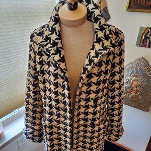 Vintage wool herringbone coat